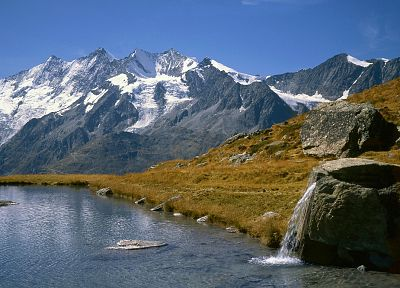 mountains, Switzerland, range, lakes - related desktop wallpaper