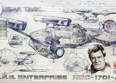 Star Trek, James T. Kirk, USS Enterprise - desktop wallpaper