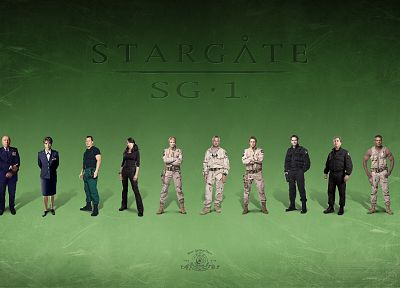 Amanda Tapping, Stargate SG-1, Claudia Black, Don S. Davis, Richard Dean Anderson, Christopher Judge, Michael Shanks, Teryl Rothery, Corin Nemec - random desktop wallpaper