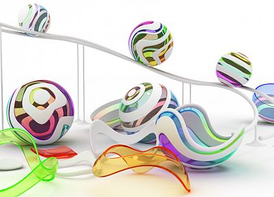 abstract, CGI, balls, chromatic, K3 Studio - related desktop wallpaper