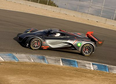 Mazda, vehicles, concept cars, Mazda Furai, side view, race tracks - desktop wallpaper