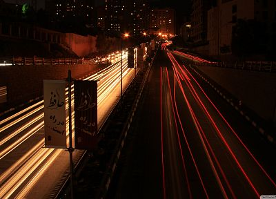 cityscapes, dark, night, roads, long exposure - desktop wallpaper