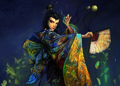 Asians, drawings, Kyoshi avatar - random desktop wallpaper