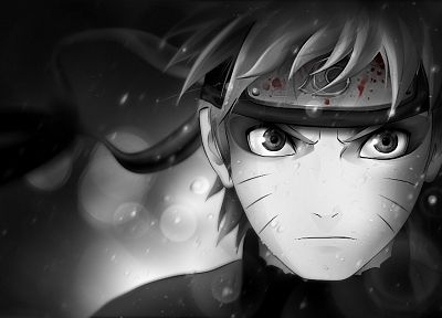 blood, Naruto: Shippuden, sage, Sage Mode, selective coloring, Uzumaki Naruto - related desktop wallpaper
