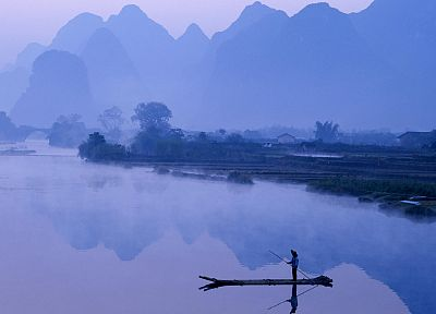dawn, China, rivers - random desktop wallpaper