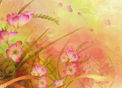 nature, flowers, illustrations - desktop wallpaper