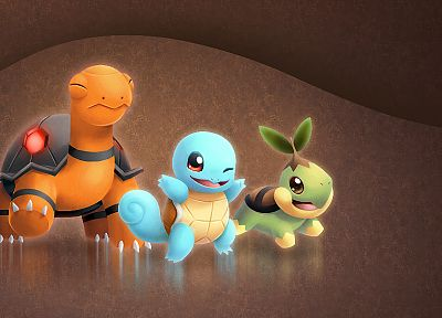 Pokemon, Bulbasaur, Squirtle, Charmander - desktop wallpaper
