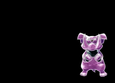 Pokemon, black background, snubull - desktop wallpaper