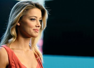 blondes, women, actress, models, celebrity, Amber Heard - desktop wallpaper