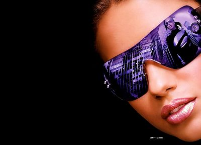 brunettes, women, Adriana Lima, Brazil, sunglasses, Brazilian - desktop wallpaper