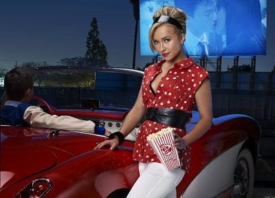 blondes, women, cars, actress, Hayden Panettiere, celebrity, Harry Potter, high heels - related desktop wallpaper