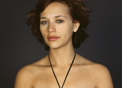 women, actress, freckles, Rashida Jones, portraits, bare shoulders - related desktop wallpaper