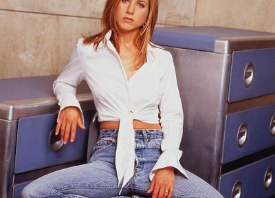 women, jeans, Jennifer Aniston - desktop wallpaper