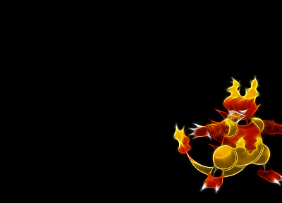 Pokemon, simple background, Magmar, black background - related desktop wallpaper