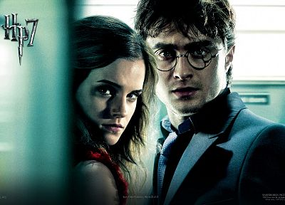 Emma Watson, Harry Potter, Harry Potter and the Deathly Hallows, Daniel Radcliffe, Hermione Granger - related desktop wallpaper