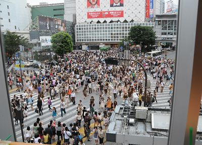 streets, crowd, Asians, Shibuya - random desktop wallpaper