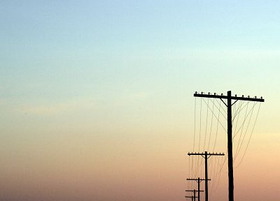 sunset, power lines, skyscapes - random desktop wallpaper