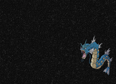 Pokemon, mosaic, Gyarados - related desktop wallpaper