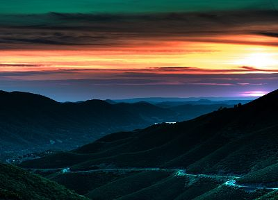 sunset, mountains, landscapes, California, Napa Valley - related desktop wallpaper