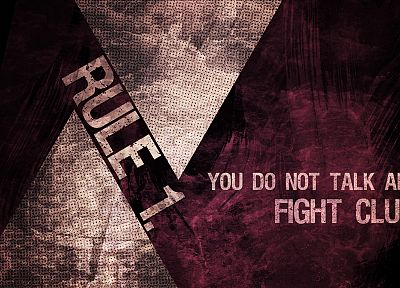 movies, rules, quotes, Fight Club - desktop wallpaper