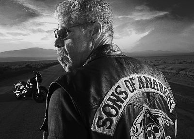 Sons Of Anarchy, monochrome, TV series - random desktop wallpaper