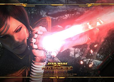 Star Wars, knight, lightsabers, Jedi, Star Wars: The Old Republic, Satele Shan - random desktop wallpaper