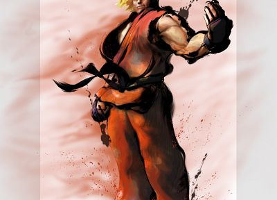 Street Fighter, Ken Masters, Super Street Fighter - random desktop wallpaper