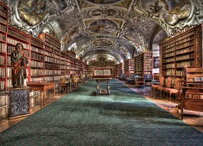 library, interior, HDR photography - desktop wallpaper