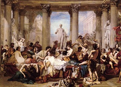 paintings, Classic, Thomas Couture, Romans in the Decadence of the Empire - random desktop wallpaper