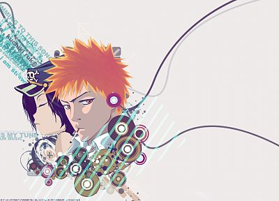 Bleach, Kurosaki Ichigo, Kuchiki Rukia, cigarettes - related desktop wallpaper