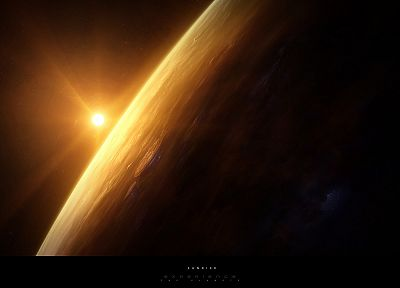 outer space, planets, digital art - desktop wallpaper