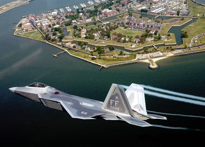 aircraft, F-22 Raptor, vehicles - related desktop wallpaper
