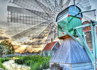 HDR photography, windmills - random desktop wallpaper