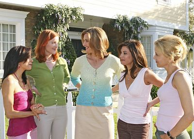 TV, women, Eva Longoria, Teri Hatcher, Felicity Huffman, Desperate Housewives, Marcia Cross, Gabrielle Solis, Bree Van De Camp, Lynette Scavo, Susan Mayer - random desktop wallpaper