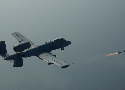 aircraft, military, Thunderbolt, missiles, A-10 Thunderbolt II - related desktop wallpaper