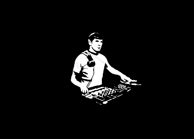 music, Spock, turntables, DJ, Music From  Outer Space - random desktop wallpaper
