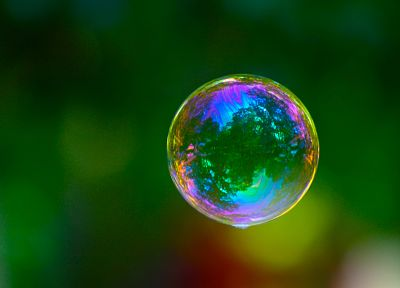 bubbles, depth of field, iridescence - random desktop wallpaper