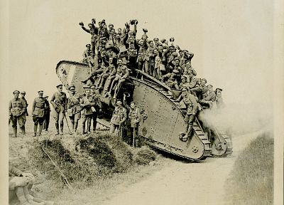 military, tanks, World War I, historic - related desktop wallpaper