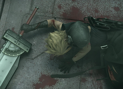 Final Fantasy VII Advent Children, Cloud Strife, Buster sword - random desktop wallpaper
