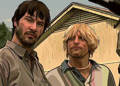 movies, Keanu Reeves, A Scanner Darkly, Woody Harrelson, Philip K. Dick - desktop wallpaper