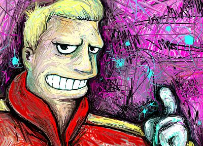 Futurama, Zapp Brannigan, fan art - random desktop wallpaper