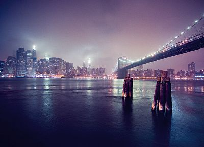 cityscapes, bridges, buildings, Brooklyn Bridge, New York City, Manhattan, East River - related desktop wallpaper