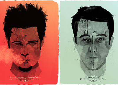 quotes, Fight Club, Brad Pitt, Edward Norton, Tyler Durden - random desktop wallpaper