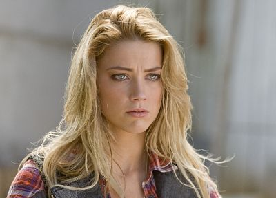 women, actress, Amber Heard, Drive Angry - desktop wallpaper