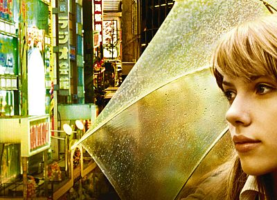 women, Japan, Scarlett Johansson, actress, Lost in Translation, umbrellas - related desktop wallpaper