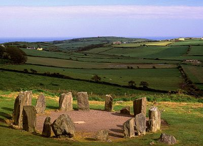 Ireland, Drombeg Stone Circle, County Cork - desktop wallpaper