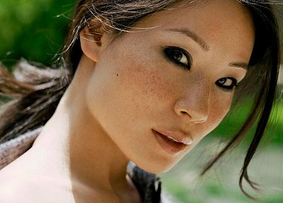 women, Lucy Liu, faces - random desktop wallpaper