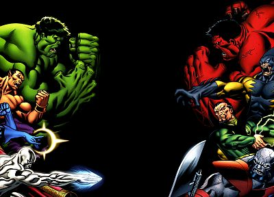 Hulk (comic character), Silver Surfer, Marvel Comics, Red Hulk, Namor The Submariner - random desktop wallpaper