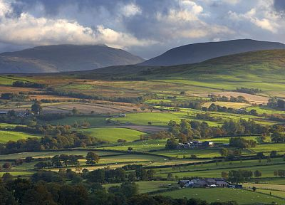 landscapes, north, Wales, United Kingdom, National Park, farmland - random desktop wallpaper