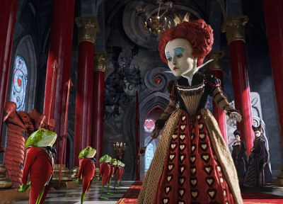fantasy, Alice in Wonderland, Helena Bonham Carter, Queen of Hearts - random desktop wallpaper